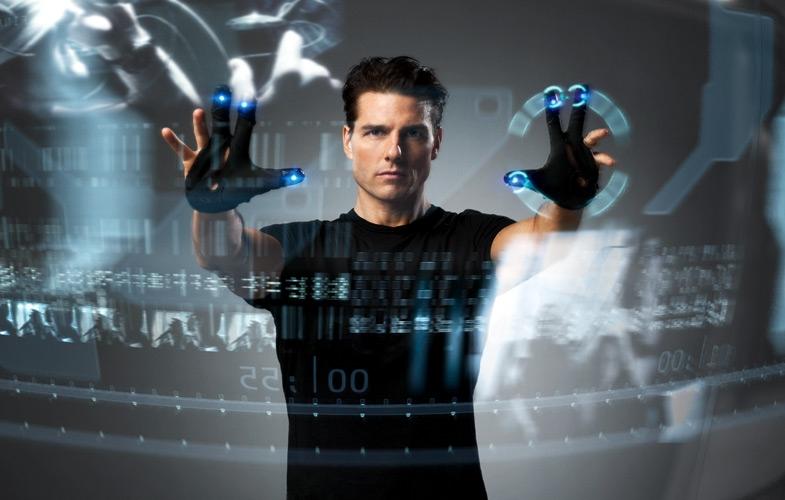 Tom Cruise en Minority Report (Perdón por caer, Pedro) o yo en el SK Museum de la Inovación en Seúl.